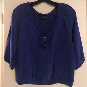 Greylin Blue Silk Blouse